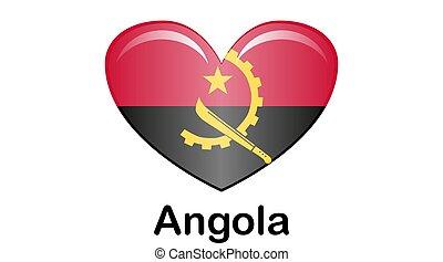 Flag of Angola. Angola Icon illustration, National flag for country of Angola isolated, banner