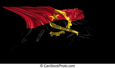 Flag of Angola - Beautiful 3d animation of the Angola flag...
