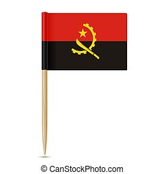 Flag of Angola. Flag toothpick 10eps