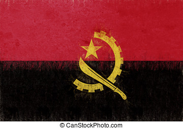 Flag of  Angola Grunge.