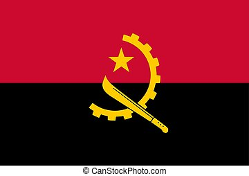Flag of Angola official colors and proportions