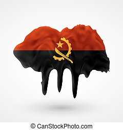 Flag of Angola painted colors