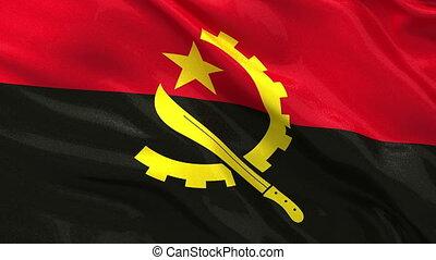 Flag of Angola seamless loop