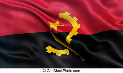 Flag of Angola seamless loop