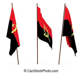 The state flag of Angola. On white background