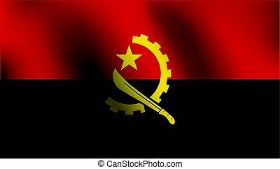 Flag of Angola - Vector Illustration