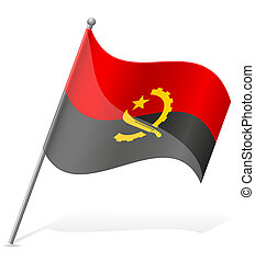 flag of Angola vector illustration