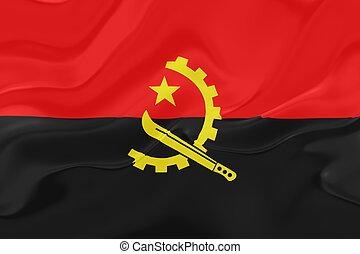 Flag of Angola , national country symbol illustration wavy fabric