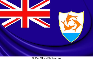 Flag of Anguilla. 3D Illustration.