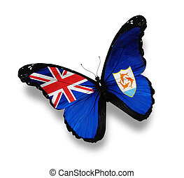Flag of Anguilla butterfly,