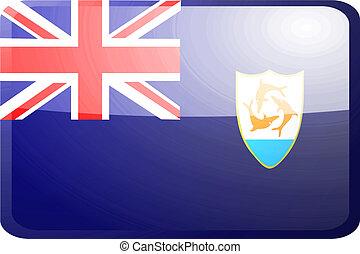 Flag of Anguilla button