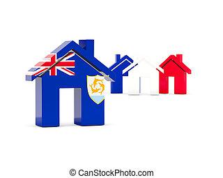 Flag of anguilla, home icon
