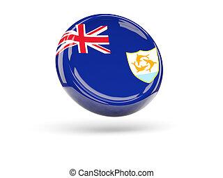 Flag of anguilla. Round icon