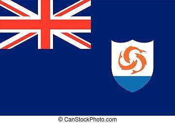 Flag of Anguilla. Vector Format