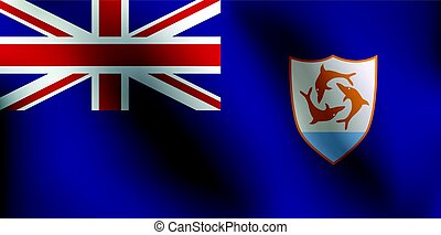 Flag of Anguilla - Vector Illustration
