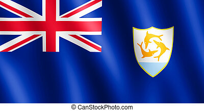 Flag of Anguilla waving in the wind