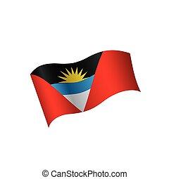 Flag of Antigua and Barbuda - Antigua and Barbuda flag,...