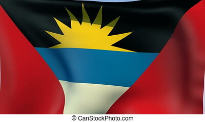 Flag of Antigua and Barbuda - Flags of the world collection