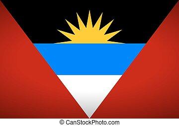 Flag of Antigua and Barbuda.