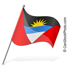flag of Antigua and Barbuda vector illustration