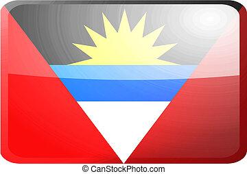 Flag of Antigua button