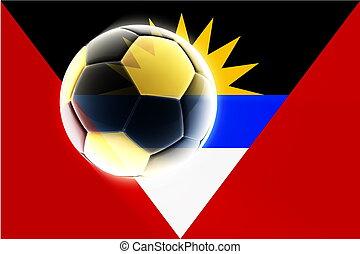 Flag of Antigua soccer