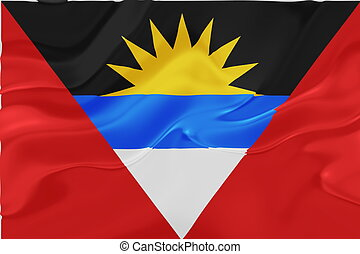 Flag of Antigua wavy