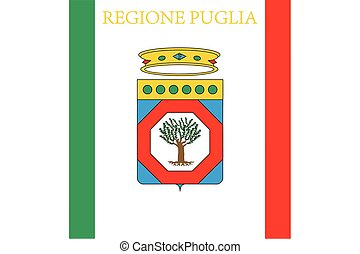 Flag of Apulia, Italy. Vector Format