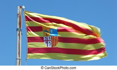 Flag of Aragon, Spain - Flag of Aragon - an autonomous...