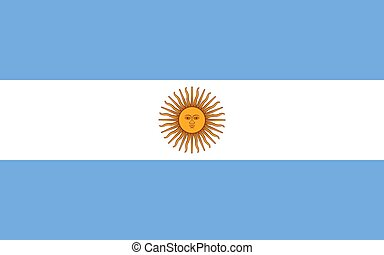 Argentina vector flag. National symbol of Argentina