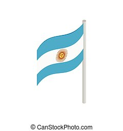 Flag of Argentina icon, isometric 3d style
