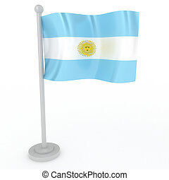Flag of Argentina - Illustration of a flag of Argentina on a...