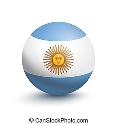 Flag of Argentina in the form of a ball