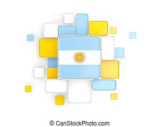 Flag of argentina, mosaic background