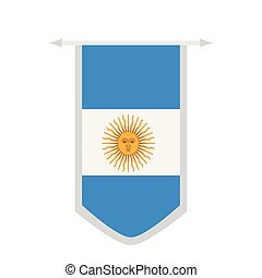 Flag of Argentina on a banner