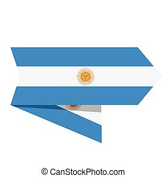 Flag of Argentina on a label