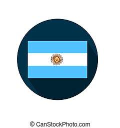 Flag of Argentina on a white background. Vector illustration.