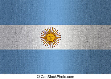 Flag of Argentina on stone