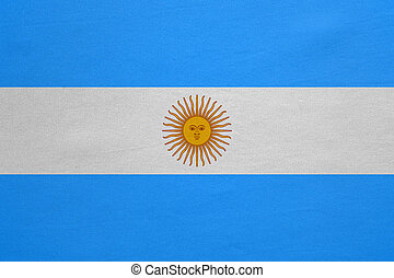 Flag of Argentina real detailed fabric texture