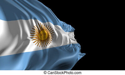 Flag of Argentina - Beautiful 3d animation of the Argentina...