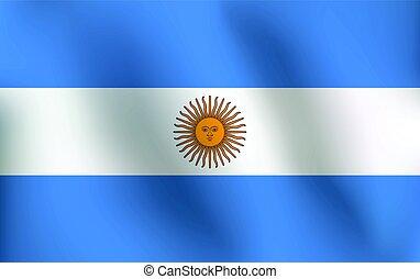 Flag of Argentina - Vector Illustration