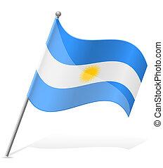 flag of Argentina vector illustration