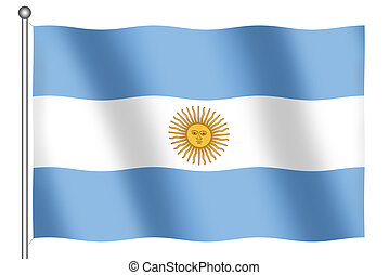 Flag of Argentina Waving