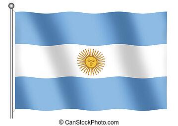 Flag of Argentina Waving