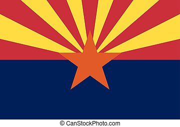 Flag of Arizona in correct proportions and colors - Flag of...