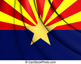 Flag of Arizona, USA. 3D Illustration.