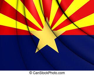 Flag of Arizona, USA. 3D Illustration.