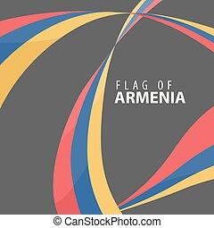 Flag of Armenia against a dark background - Designer...