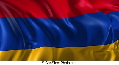 Beautiful 3d animation of the Armenia flag in loop mode