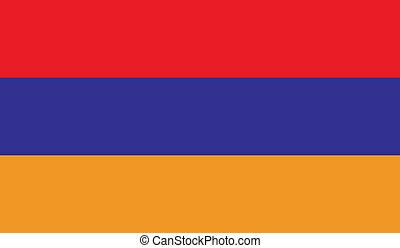 Flag of Armenia - Armenia flag vector illustration. created...